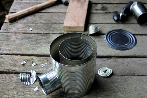 make a hobo tin can portable rocket stove wnwpressrelease