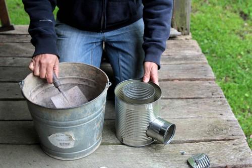 Rocket Stove Insulation : Make a hobo tin can portable rocket stove wnwpressrelease