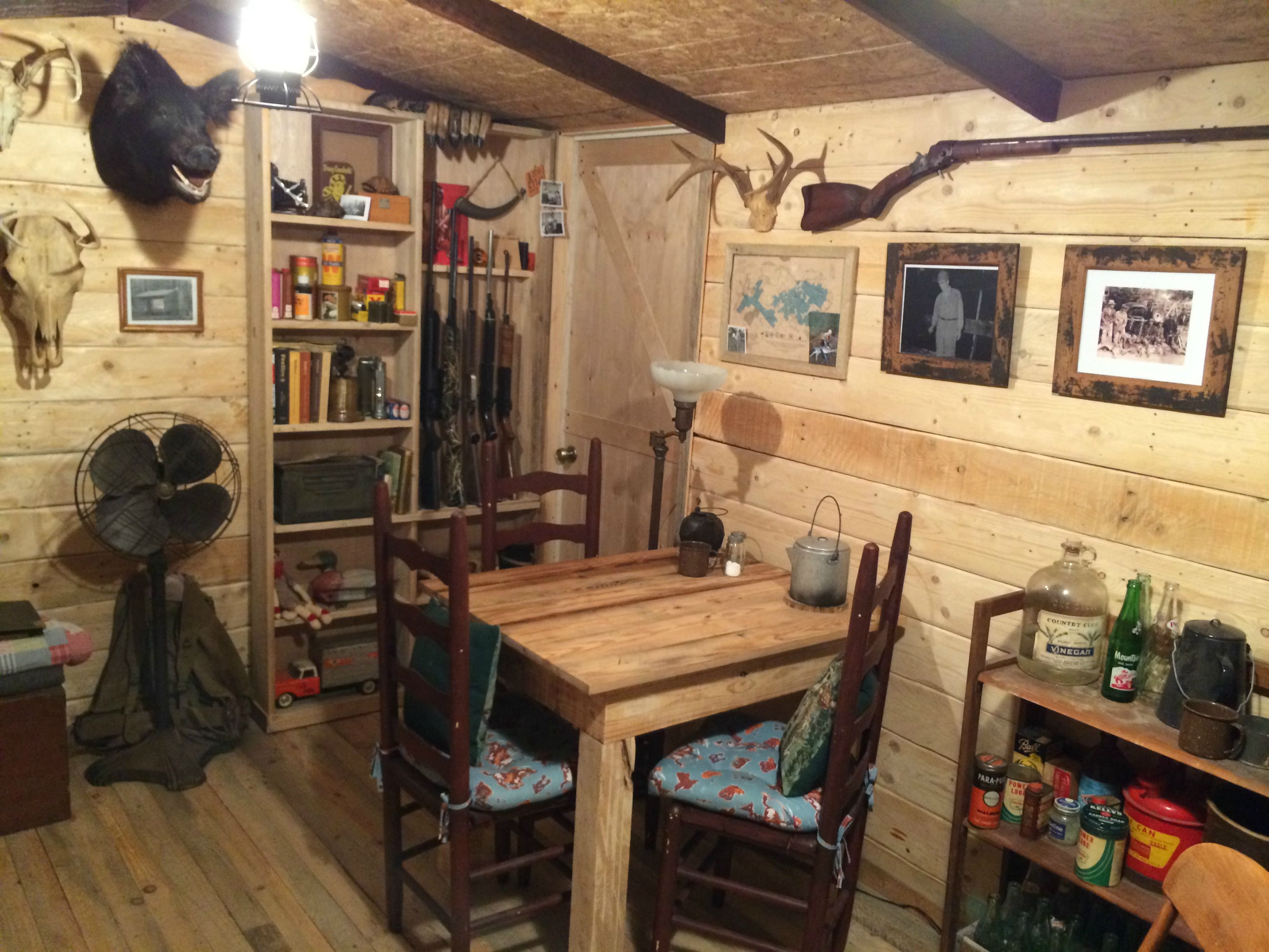 $107 Rustic Cabin Man Cave I Built In My Basement""